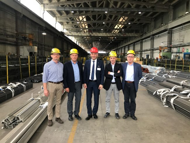 Vice President Fabrizio Sala visited Siderval on April 23rd