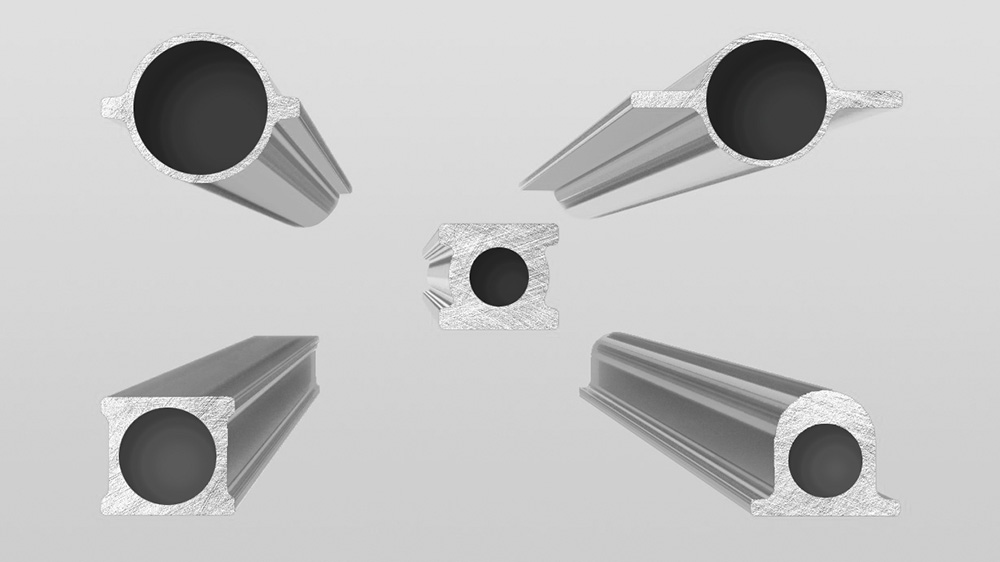 Seamless steel pipes obtained by hot extrusion