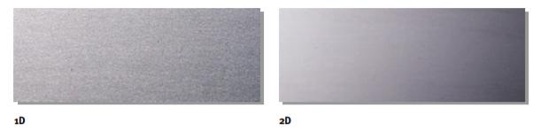 Dettaglio finiture acciaio 1d e 2d